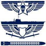 Абстрактный военно-морской флот значков Стоковые Фото