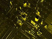 Абстрактный воздушный взгляд города Стоковые Изображения RF