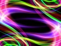 Абстрактный волнистый цветастый фон конструкции Стоковые Фотографии RF