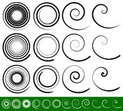 Абстрактный вортекс, спиральные элементы Геометрическое круговое illustrat иллюстрация штока