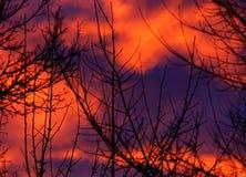 абстрактный восход солнца картины природы Стоковая Фотография RF