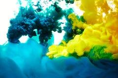 абстрактный выплеск краски Стоковая Фотография RF