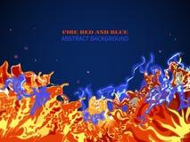 Абстрактный выплеск огня Стоковые Изображения