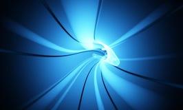 абстрактный высокотехнологичный wormhole Стоковые Фото