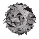 Абстрактный геометрический год сбора винограда картины ретро Треугольник предпосылки Стоковые Изображения RF