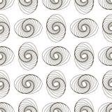 Абстрактный геометрический дизайн картины Иллюстрация вектора для моды битника Белые черные цвета Стоковые Изображения RF