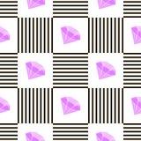 Абстрактный геометрический дизайн картины Иллюстрация вектора для моды битника Белые черные цвета Стоковые Изображения