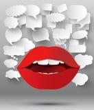 Абстрактный геометрический дизайн 3D речи пузыря Стоковые Фотографии RF