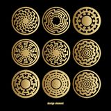 Абстрактный геометрический комплект значка Стоковые Изображения RF