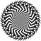 Абстрактный геометрический круговой элемент Излучать скачками форму Стоковые Изображения RF