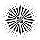 Абстрактный геометрический круговой элемент Излучать скачками форму Стоковое Фото