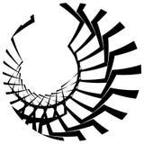 Абстрактный геометрический круговой элемент Излучать скачками форму Стоковые Фото