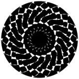 Абстрактный геометрический круговой элемент Излучать скачками форму Стоковое Изображение RF