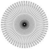Абстрактный геометрический круговой элемент Излучать скачками форму Стоковые Изображения