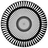 Абстрактный геометрический круговой элемент Излучать скачками форму Стоковое Изображение