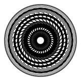 Абстрактный геометрический мотив, концентрический радиальный элемент на белизне иллюстрация вектора