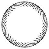 Абстрактный геометрический мотив, концентрический радиальный элемент на белизне бесплатная иллюстрация