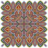 Абстрактный геометрический орнамент, богемский элемент Стоковое Фото