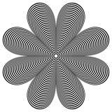 Абстрактный геометрический элемент Вращая форма радиальных линий с иллюстрация вектора
