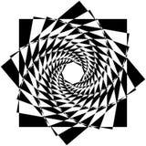Абстрактный геометрический элемент с внутренними вращая квадратами перекрытие Стоковые Изображения RF