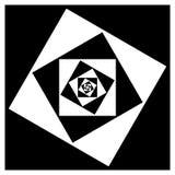 Абстрактный геометрический элемент с внутренними вращая квадратами перекрытие Стоковое фото RF