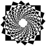 Абстрактный геометрический элемент с внутренними вращая квадратами перекрытие Стоковые Изображения