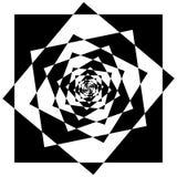 Абстрактный геометрический элемент с внутренними вращая квадратами перекрытие Стоковое Изображение RF
