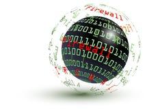 абстрактный глобус брандмауэра Иллюстрация штока