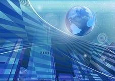абстрактный глобус города Стоковое фото RF