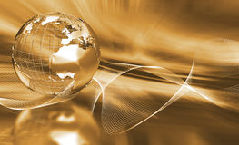 абстрактный глобус Стоковые Изображения RF