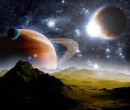 абстрактный глубокий космос предпосылки Стоковая Фотография