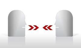 абстрактный говорить головок Стоковое Изображение RF