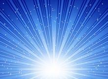 Абстрактный голубой взрыв звезд Стоковые Изображения RF