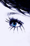 абстрактный голубой глаз стоковое изображение
