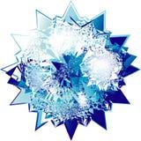 абстрактный голубой диамант Стоковые Изображения RF
