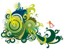 абстрактный голубой зеленый цвет ретро Стоковая Фотография