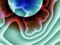 абстрактный голубой космос планеты Стоковое фото RF
