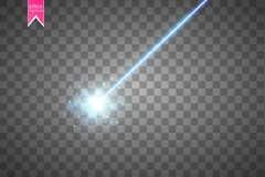 Абстрактный голубой лазерный луч Изолированный на прозрачной черной предпосылке Иллюстрация вектора, Стоковые Фото