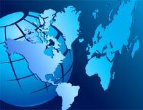 абстрактный голубой мир Стоковое Изображение