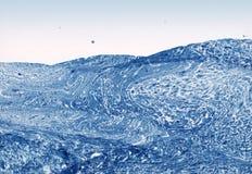 абстрактный голубой покрашенный ландшафт руки Стоковые Изображения RF