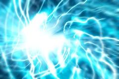абстрактный голубой поток энергии Стоковое фото RF