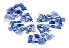 абстрактный голубой экран радара Стоковое фото RF