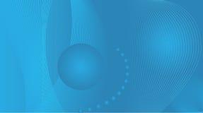 абстрактный голубой экран широко Стоковое Изображение RF