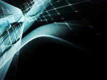 Абстрактный голубой элемент над черной предпосылкой Стоковая Фотография