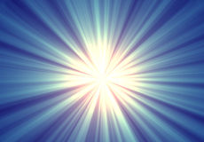 абстрактный голубой sunburst Стоковая Фотография RF