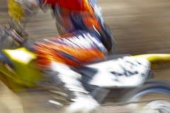 Абстрактный гонщик велосипеда грязи Стоковая Фотография