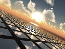абстрактный горизонт решетки предпосылки Стоковые Изображения