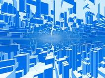 абстрактный город предпосылки 2 Стоковые Фотографии RF