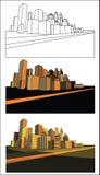 абстрактный город самомоднейший Стоковые Фото