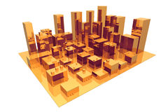 абстрактный город Стоковые Изображения RF